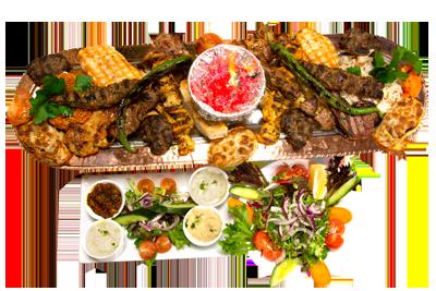 ALIBABA FAMILIE PAKKE 2 /749,-   2 stk lamspyd, 3 stk kyllingspyd, 3 stk køfte, 1 stk adana, 4 stk kylling kotelett, 2 stk lammekoteletter, 2 stk kylling filet, 2 stk kyllinglår.  (M,HV)