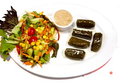 YAPRAK SARMA /69,-   Vinblader fylt med ris og krydder