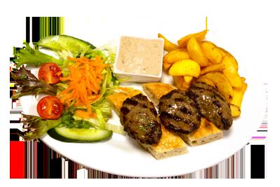 KØFTE /99,-   Marinerte kjøttkaker med brød og salat (HV,M)