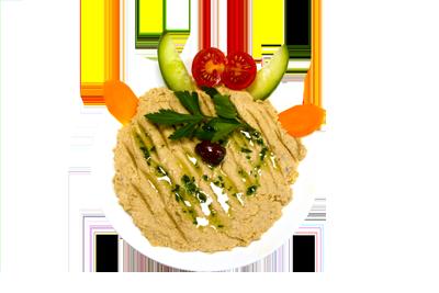 HUMMUS /69,-   Purret av kikkererter blandet med tahini og med brød(SS,H)