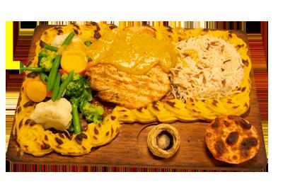 PLANKESTEK KYLLING /209,-   220gr kyllingfilet, serveres med utvalgte, grønnsaker, potetmos, ris og bearnaisesaus(M,HV,E)