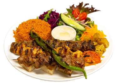 MIX GRILL /179,-   Adana kebab, kyllingspyd og lamspyd (M,HV)